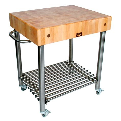 stainless steel kitchen island with butcher block top kitchen carts cucina d amico maple top w towel bar