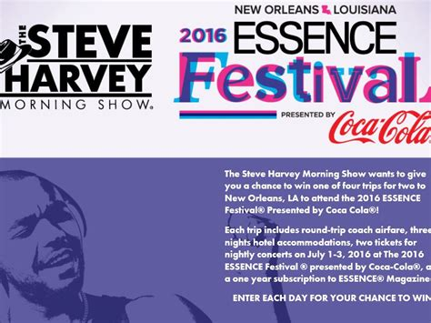 Steve Harvey Giveaway Today - the steve harvey morning show and creme of nature s flyaway sweepstakes