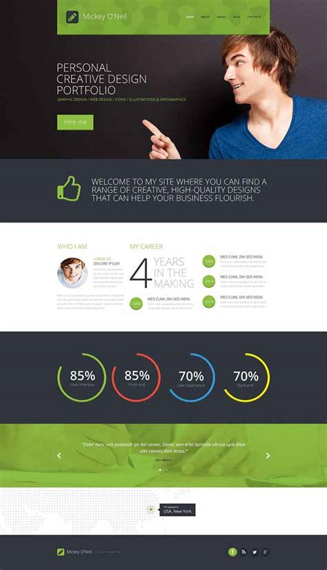 personal profile design templates 40 best personal website templates free premium