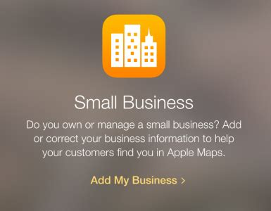 how to add your business to apple maps