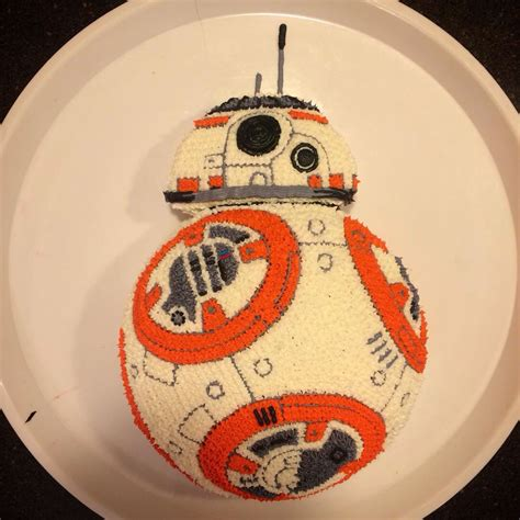 bb8 star wars cake how to make an easy bb 8 birthday cake for a star wars