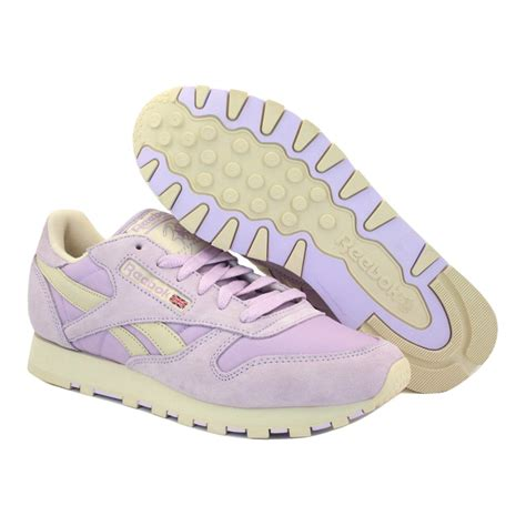Reebok Classic Purple High Murah reebok classic leather pastel v45287 womens laced suede