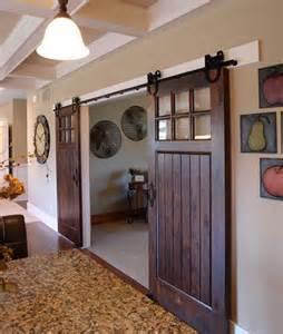 Interior decoration options that incorporate concepts sliding barn