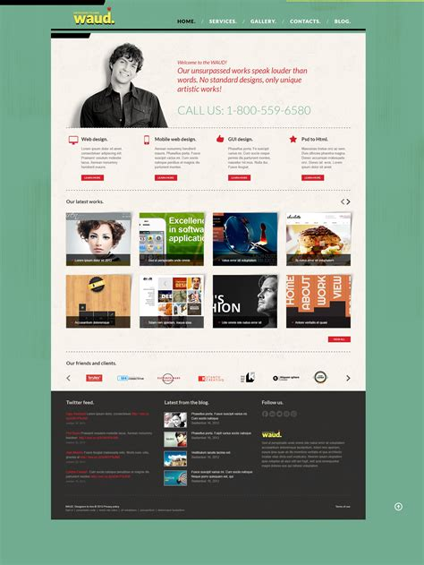 bootstrap design studio joomla template 43615 by wt