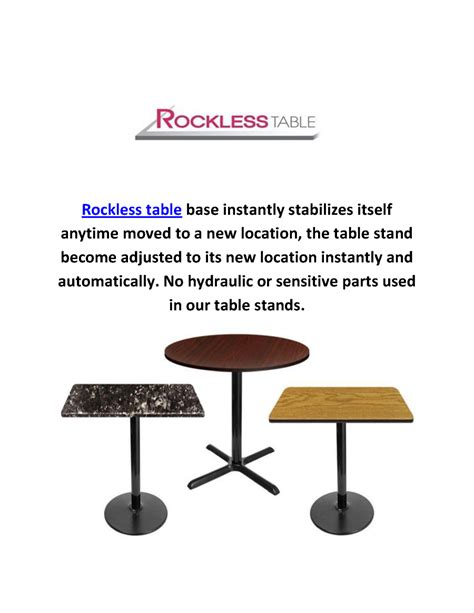 self leveling table rockless self leveling table bases in laguna niguel ca