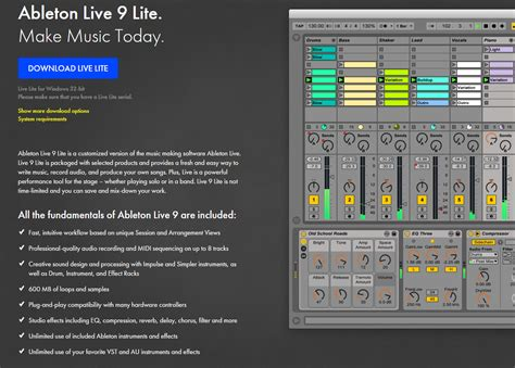 Ableton Live 9 Lite by Photo Ableton Live 9 Lite Ableton Live 9 Lite 56400
