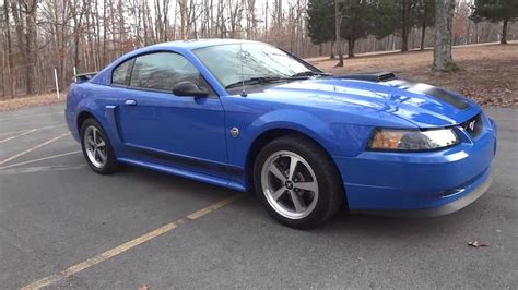 blue 2004 mustang 2004 ford mustang mach 1 azure blue