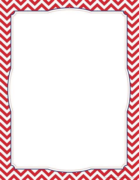 free chevron border template for word 6 best images of free printable chevron border template