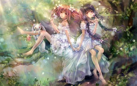 wallpaper anime magic magic girls beautiful wallpaper anime manga wallpaper