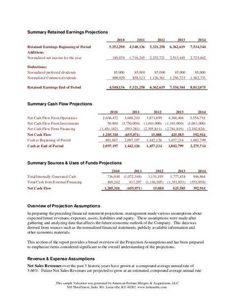 comprehensive business plan template comprehensive business valuation sle
