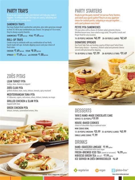 zoes kitchen menu calories kitchen design