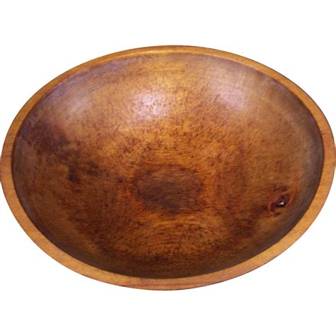antique 1800s new england hand turned wooden dough bowl from villageantiquesllc on ruby lane