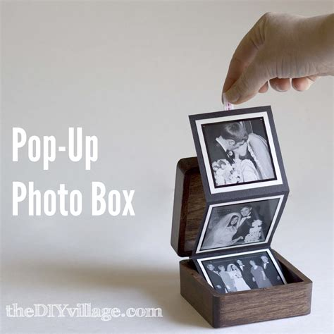 cool photo gifts pop up photo box gift idea the diy village