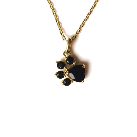 Cat Paw Necklace cat paw print necklace