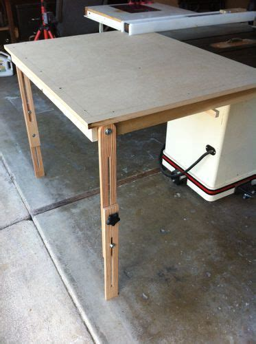 table saw outfeed table ideas table saw outfeed table 2 finished up and tested by