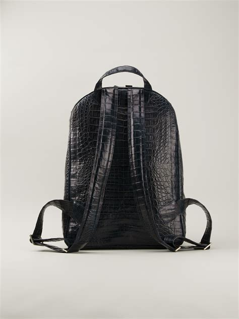 Bbb Black Crocodile Bag Intl crocodile leather backpack os backpacks