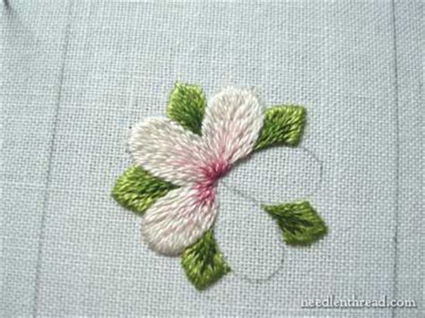 Long And Short Stitch Shading Lesson 8 A Simple Flower