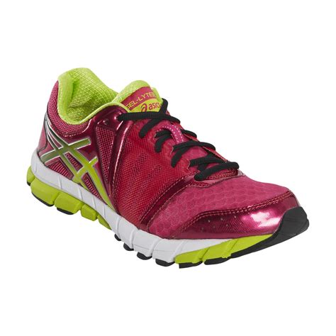 neon athletic shoes asics s gel lyte33 2 running athletic shoe pink