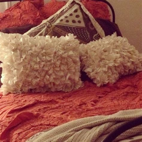 euro pillows bed bath and beyond pillow beds orange quilt and brown pillow cases on pinterest