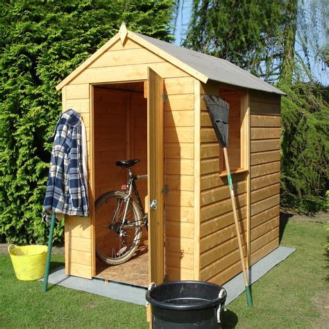 apex roof shiplap wooden shed departments diy  bq