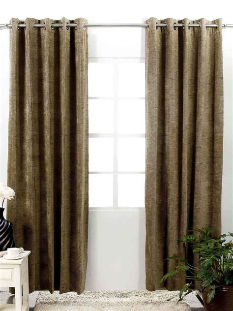 buy shamrock brown single window curtain curtains and sheers for unisex myntra