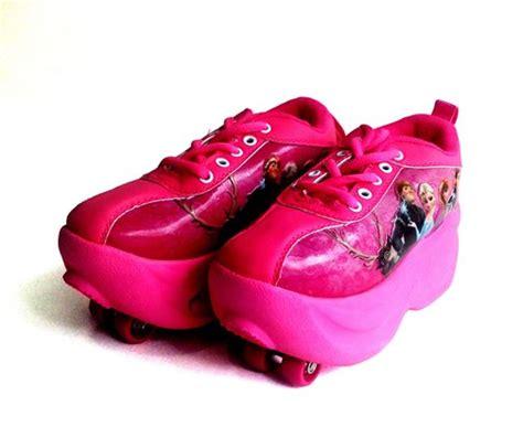 Sepatu Roda Roda 1 sepatu roda dua frozen pink 1