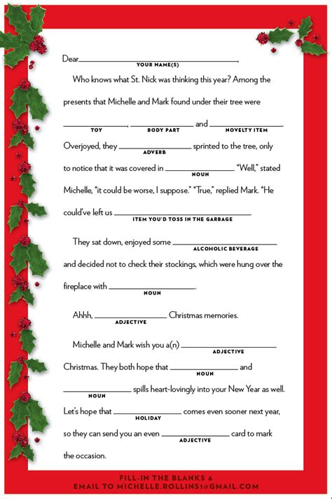 printable holiday mad libs 7 best images of mad libs printable christmas cookies