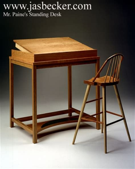 Standing Desk For Mr Paine By Jas Becker Cabinetmaker Of Standing Writing Desks