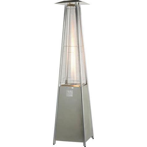 Athena Stainless Steel Flame Gas Patio Heater Heat Outdoors Outdoor Patio Gas Heaters