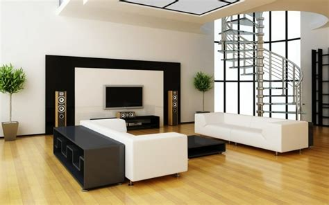sala de estar moderna de estilo minimalista  ideas