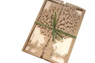 laser cut tree wedding invitation with wood engraved - Laser Cut Tree Wedding Invitations