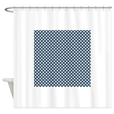 blue and white polka dot curtains navy blue and white polka dots 3 shower curtain by