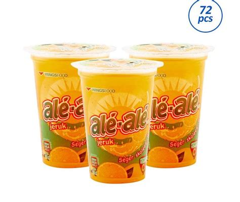 Ale Ale Orange Cup 24x200ml distributor minuman ale ale pt indah jaya indonesia