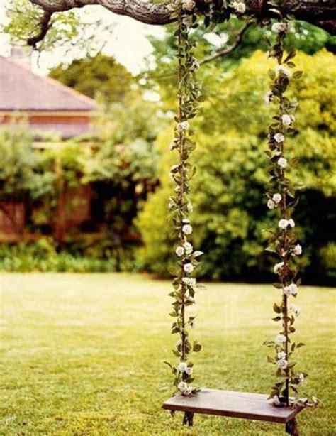 romantic outdoor swing secret garden swing via the lane landscape backyard