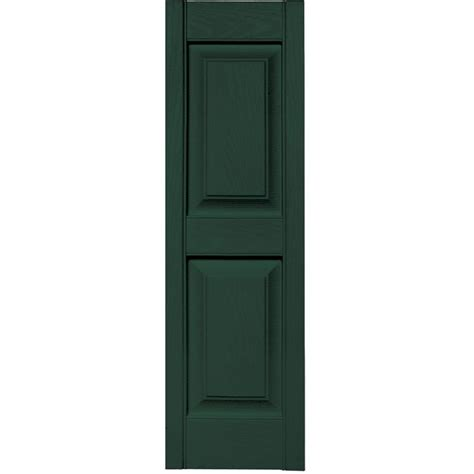 Builders Edge 12 In X 39 In Louvered Vinyl Exterior Home Depot Exterior Shutters