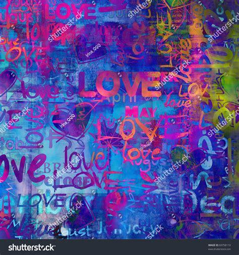 Words Pattern Background | art vintage word pattern background in bright blue