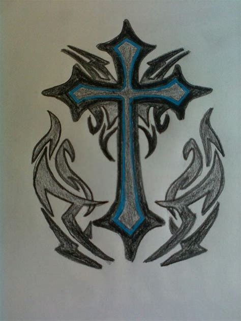 cross tattoo by paintballmistress on deviantart