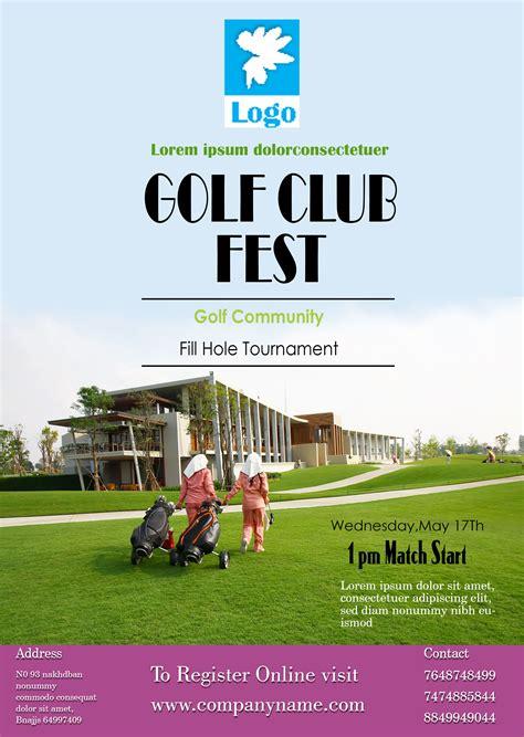 golf tournament flyer template 15 free golf tournament flyer templates fundraiser