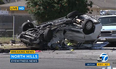 Actor Garrisons Suv Wrecks 1 Dead by 1 Killed 8 Injured As Minivan Suv Crash In Los Angeles