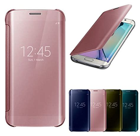 Casing Galaxy S7 Flat Mirror jual samsung s7 mirror cover flip for samsung