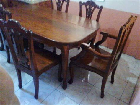 Used Dining Tables On Narra Dining Set Table Narra Dining Set Table For 6 Used For Sale From Laguna Adpost Classifieds Gt Philippines