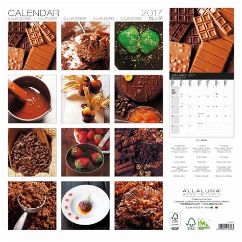 Chocolate Calendar Chocolate 2017 Wall Calendar 8057094916016 Calendars