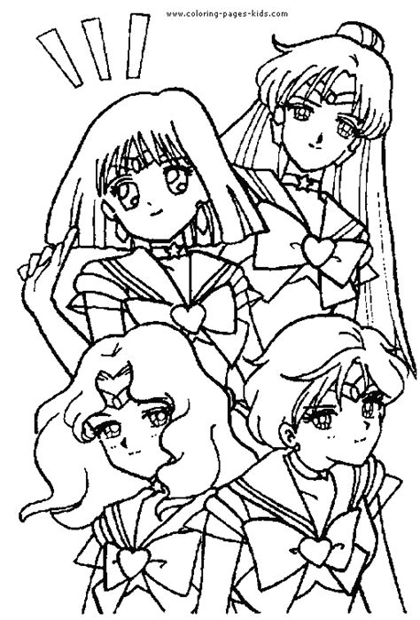 sailor moon color coloring pages kids cartoon characters coloring pages printable