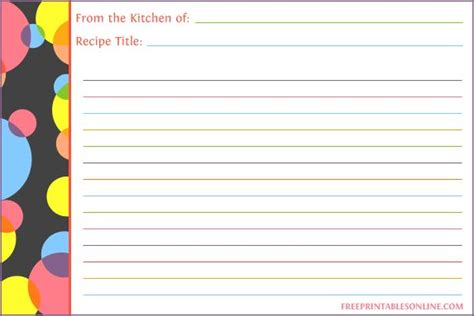 recipe card template 4x6 661 best images about printables on recipe