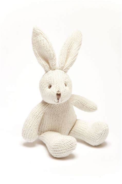 sock bunny knit and fit white knit bunny