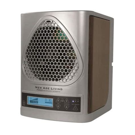 new age living air purifier with lcd display and remote metallic zen living air purifiers