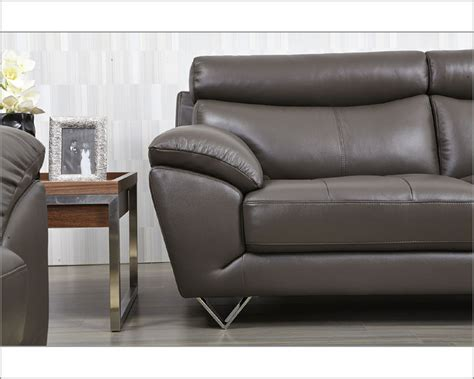 gray modern sofa set modern leather sofa set in grey color esf8049set