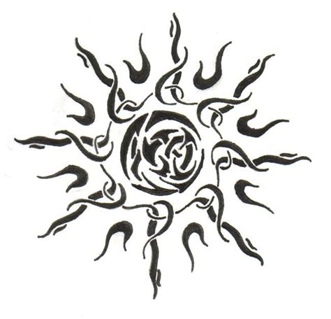 sun moon tribal tattoos 208 best sun images on