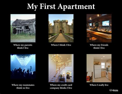 My First Apartment: How the World Sees It   The Allstate Blog