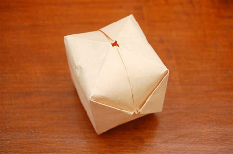 Fold Paper Cube - how to make an cube out of paper 11 steps